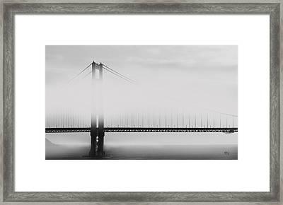 Golden Gate Bridge - Fog And Sun Framed Print by Ben and Raisa Gertsberg