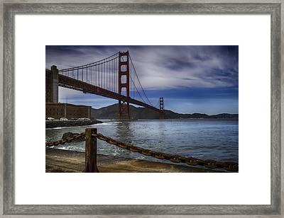 Golden Gate Bridge Fort Point Framed Print by Garry Gay