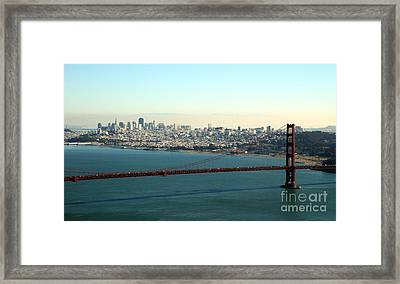 Golden Gate Bridge Framed Print by Linda Woods