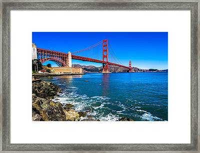 Golden Gate Bridge San Francisco Bay Framed Print by Scott McGuire