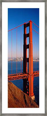 Golden Gate Bridge San Francisco Ca Framed Print by Panoramic Images