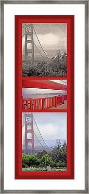 Golden Gate Bridge Triptych Framed Print by Steve Ohlsen