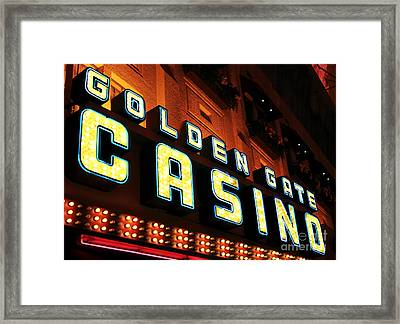 Golden Gate Casino Framed Print by John Rizzuto