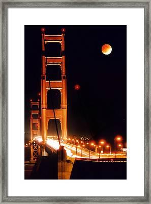 Golden Gate Night Framed Print by DJ Florek