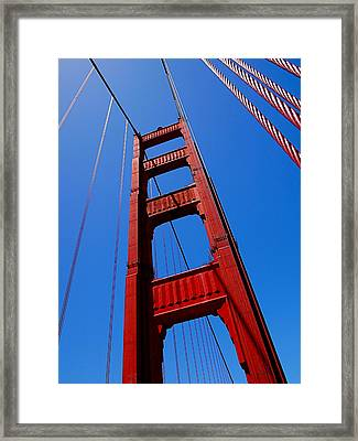 Golden Gate Tower Framed Print by Rona Black