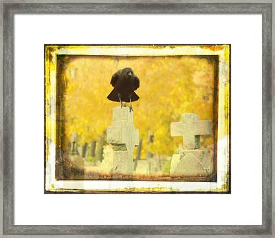 Golden Gothic Framed Print by Gothicolors Donna Snyder