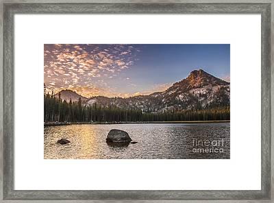 Golden Gunsight Peak Framed Print by Robert Bales