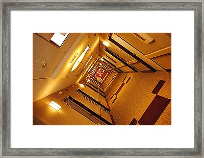 Golden Hall Framed Print by Frozen in Time Fine Art Photography