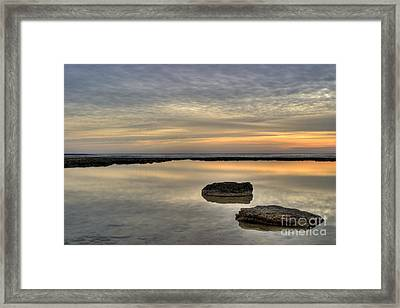 Golden Horizon Framed Print by Stelios Kleanthous