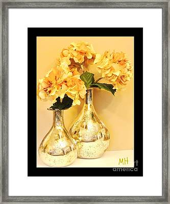 Golden Hydrangia Framed Print by Marsha Heiken