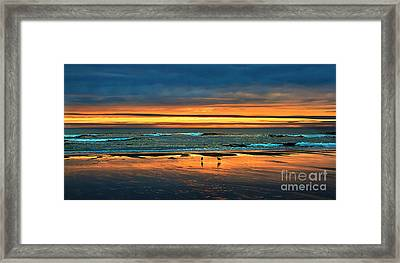 Golden Pacific Framed Print by Robert Bales