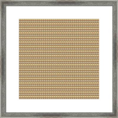 Golden Pattern Print Artist Created Multiuse Graphics   Web   Print Media  Stationary  Gifts  Packag Framed Print by Navin Joshi