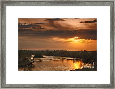 Golden Payette River Framed Print by Robert Bales