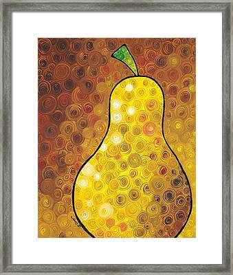 Golden Pear Framed Print by Sharon Cummings