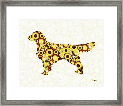 Golden Retriever - Animal Art Framed Print by Anastasiya Malakhova