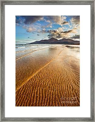 Golden Ripples Framed Print by Derek Smyth
