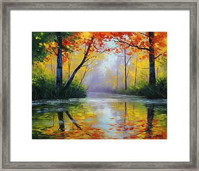 Golden River Framed Print by Graham Gercken