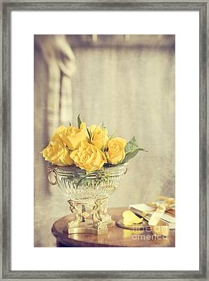 Golden Roses Framed Print by Amanda Elwell