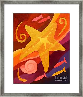 Golden Sealife Framed Print by Lutz Baar