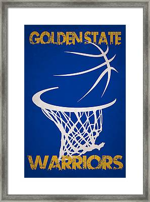 Golden State Warriors Hoop Framed Print by Joe Hamilton