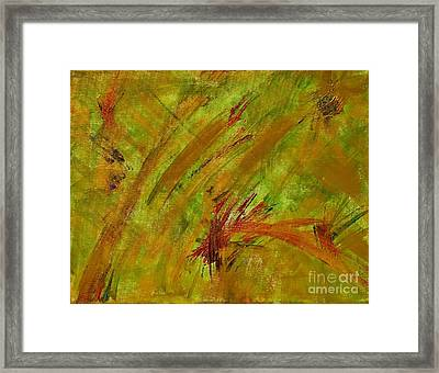 Golden Summer Abstract Framed Print by Anne Clark