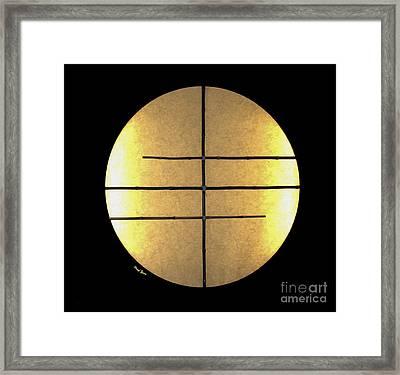 Golden Sun Framed Print by Cheryl Young
