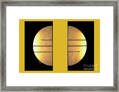 Golden Sun Diptych Framed Print by Cheryl Young