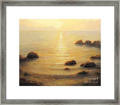 Golden Sunrise Framed Print by Kiril Stanchev