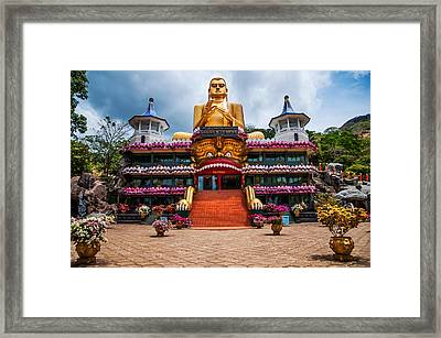 Golden Temple In Dambulla 1. Sri Lanka Framed Print by Jenny Rainbow