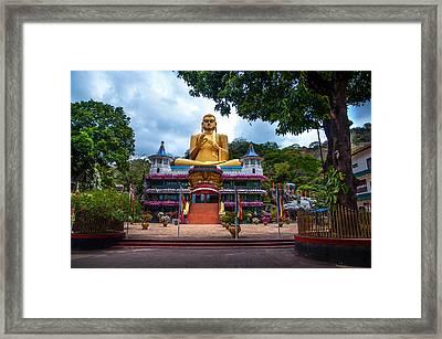 Golden Temple In Dambulla 2. Sri Lanka Framed Print by Jenny Rainbow