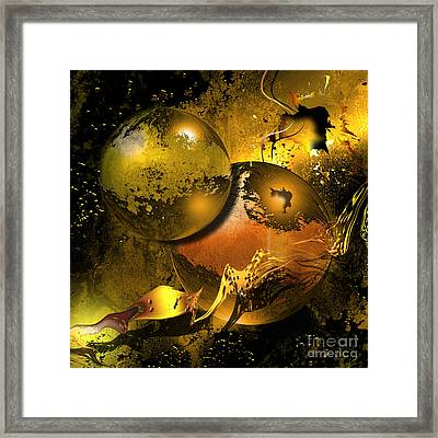 Golden Things Framed Print by Franziskus Pfleghart
