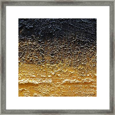 Golden Time - Abstract Framed Print by Ismeta Gruenwald
