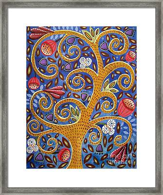 Golden Tree Framed Print by Karla Gerard