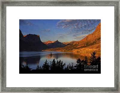 Golden Wild Goose Island Framed Print by Mark Kiver