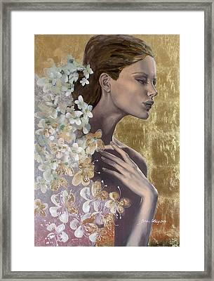 Golden Wind Framed Print by Dorina  Costras