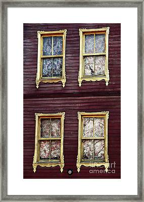 Golden Windows Framed Print by John Rizzuto