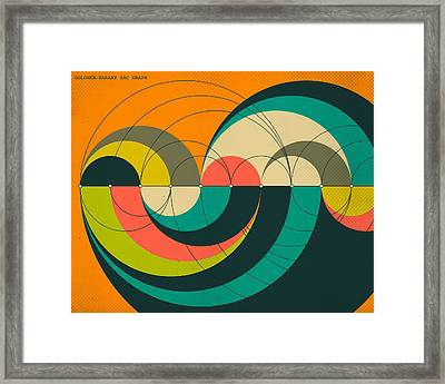 Goldner Harary Arc Graph Framed Print by Jazzberry Blue