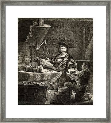 Goldweigher, 17th Century Framed Print by Science Photo Library
