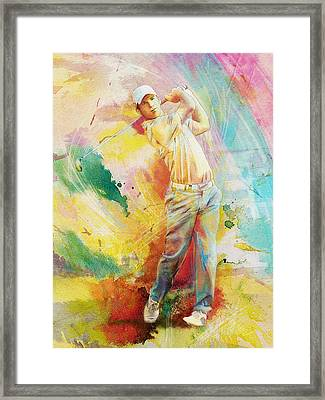 Golf Action 01 Framed Print by Catf