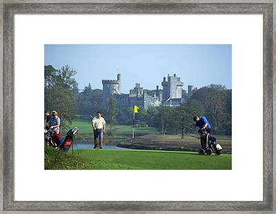 Golf At Dromoland Castle Framed Print by Carl Purcell