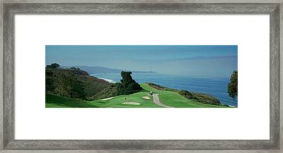 Golf Course At The Coast, Torrey Pines Framed Print by Panoramic Images