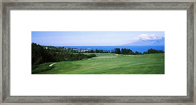 Golf Course At The Oceanside, Kapalua Framed Print by Panoramic Images