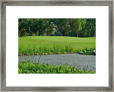 Golf Course Lay Up Framed Print by Frozen in Time Fine Art Photography