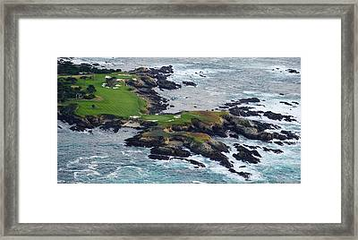 Golf Course On An Island, Pebble Beach Framed Print by Panoramic Images