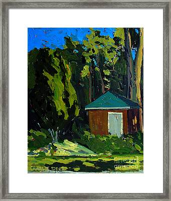 Golf Course Shed Series No.19 Framed Print by Charlie Spear
