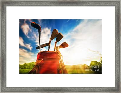 Golf Equipment  Framed Print by Michal Bednarek