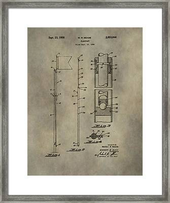Golf Flag Patent  Framed Print by Dan Sproul