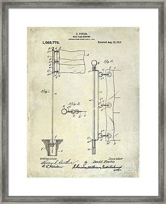 1913 Golf Flag Patent  Framed Print by Jon Neidert