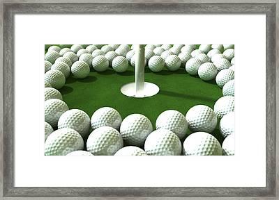 Golf Hole Assault Framed Print by Allan Swart