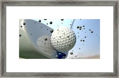 Golf Impact Framed Print by Allan Swart